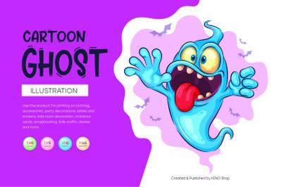 Cute cartoon ghost.