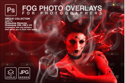 Smoke overlay & Photoshop overlay: Digital smoke bomb overlay, Fog eff