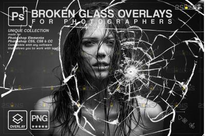 Broken Glass Photoshop Overlay & Halloween Photoshop overlay, Realisti