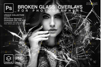 Broken Glass Photoshop Overlay & Halloween Photoshop overlay,