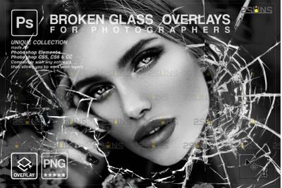 Broken Glass Photoshop Overlay & Halloween Photoshop overlay