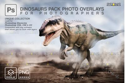 Dinosaur Backdrop: Photoshop overlay, Digital Dinosaurs clipart, T-Rex