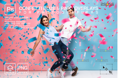 Gender reveal confetti overlay photoshop & Confetti png, Photoshop ove