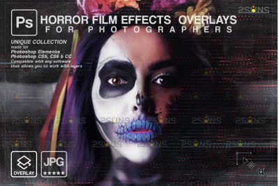 Horror effects, Film Grain Textures, Dust Grain, Scratch Photo Overlay