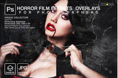 Horror effects, Film Grain Textures, Dust Grain, Scratch Photo