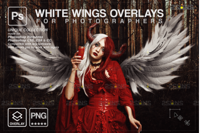 White angel wings overlay & Photoshop overlay: Angel wings png,
