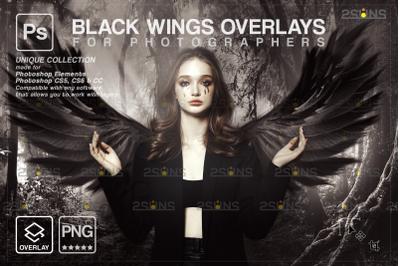 Black angel wings overlay & Photoshop overlay: Angel wings png,