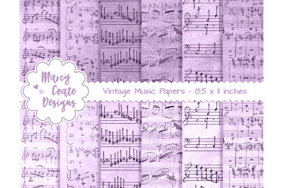 Lavender Dyed Music Papers US Letter Size
