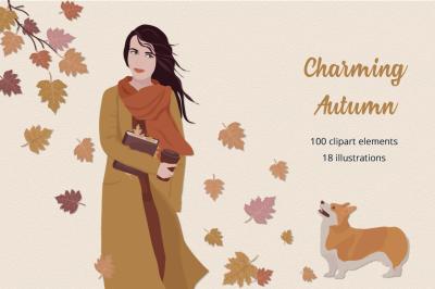Charming Autumn Illustration Set