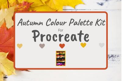 Autumn Procreate Colour Palette Kit - 120 Shades