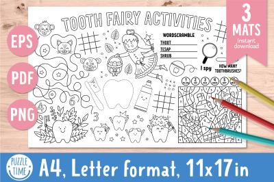 Tooth Fairy activity mats