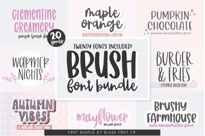 20 FONTS - Brush Font Bundle