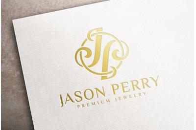 Gold foil Stamping Logo Mockup on white card