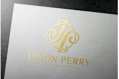 Gold Foil Stamping Logo Mockup on White Paper Card