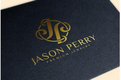 Gold Foil Stamping Logo Mockup on black Paper Business Card