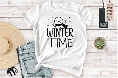 Winter Svg - Winter Time
