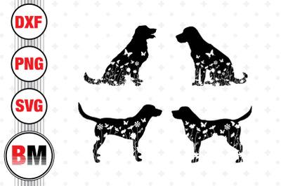 Labrador Floral SVG, PNG, DXF Files