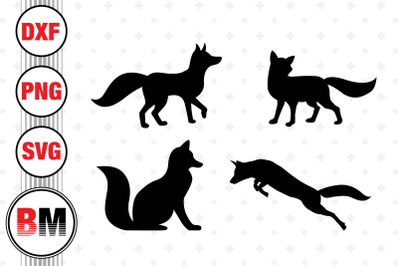 Fox Silhouette SVG, PNG, DXF Files