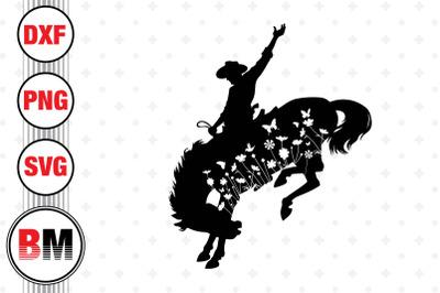 Cowboy Floral SVG, PNG, DXF Files