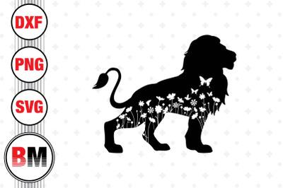 Lion Floral SVG, PNG, DXF Files