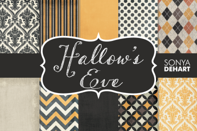 Digital Papers Hallow's Eve Patterns