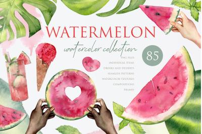 Watermelon Watercolor Set PNG