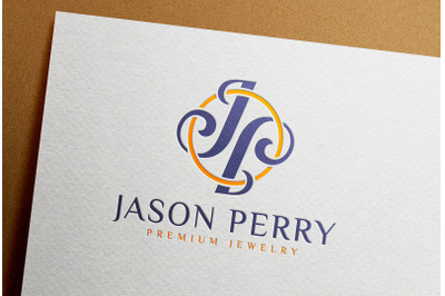Full Color Debossed Logo Mockup printed on White Paper Card