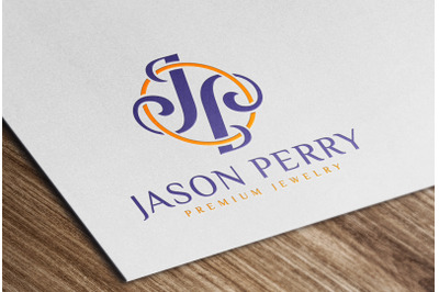 Glossy Colored Logo Mockup on White Paper Card