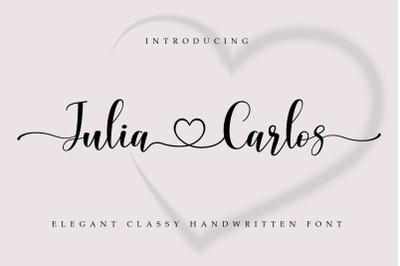 Julia Carlos | A Handwritten Script