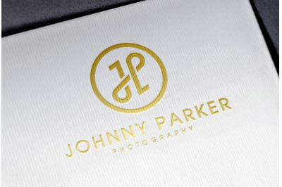 Gold Foil Logo Mockup on White Paper