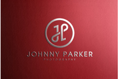 Silver Foil Stamping Logo Mockup on Red Paper