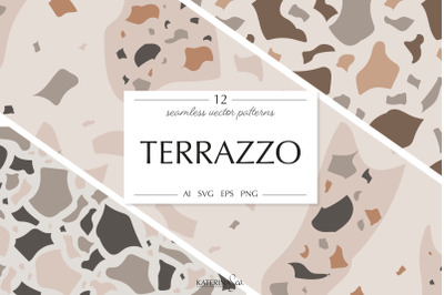 Terrazzo vector patterns pack