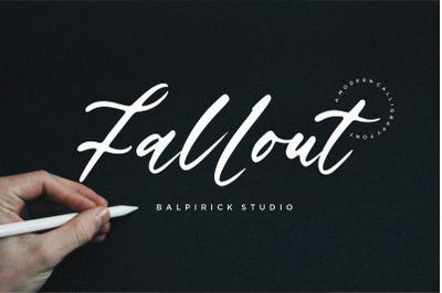 Fallout Modern Calligraphy Font