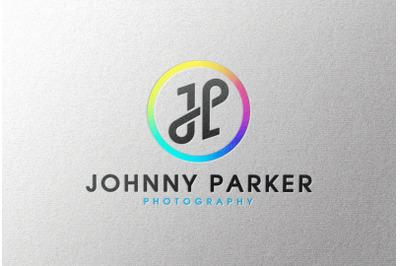 Full Color Logo Mockup on White Paper