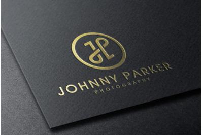 Gold foil Logo Mockup on Black Card