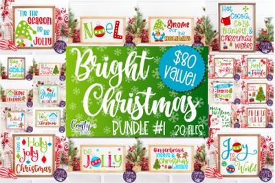 Christmas Svg, Farmhouse Christmas Sign Bundle, Bright Santa