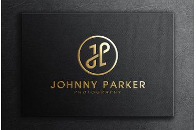 Gold Foil Logo Mockup on Textured Black Card