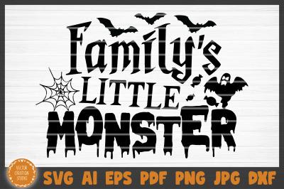 Family's Little Monster Halloween SVG