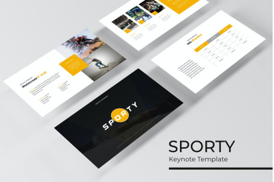 Sporty Keynote Template