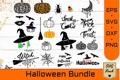 Halloween Bundle SVG | Fall pumpkins and bats