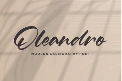 Oleandro Modern Calligraphy Font