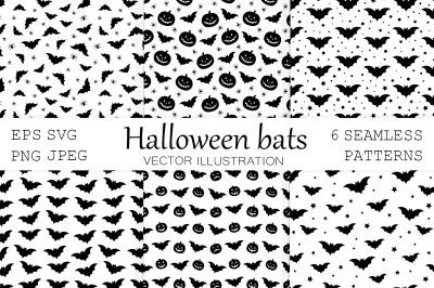 Halloween bat pattern. Bats pattern. Bat SVG. Spider pattern