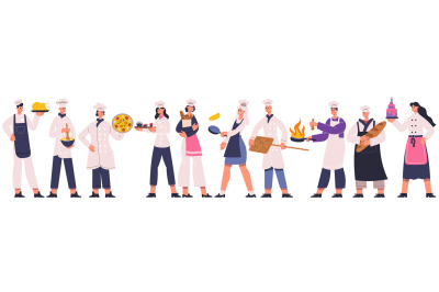 Professional restaurant chefs, cook and sous chef characters. Culinary