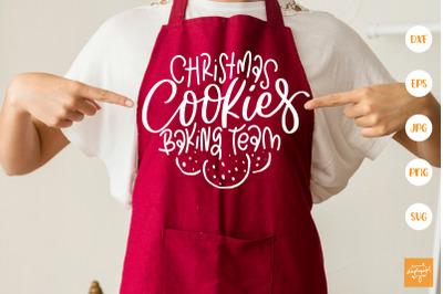 Christmas Cookies Baking Team SVG