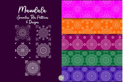 Mandala seamless pattern tiles