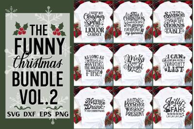 Funny Christmas Tshirt Svg Bundle