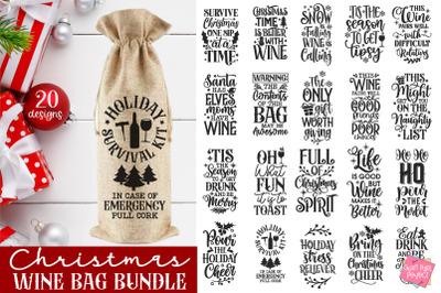 Christmas Wine Bag Bundle