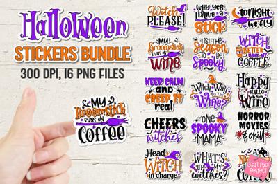 Printable Halloween Stickers Bundle