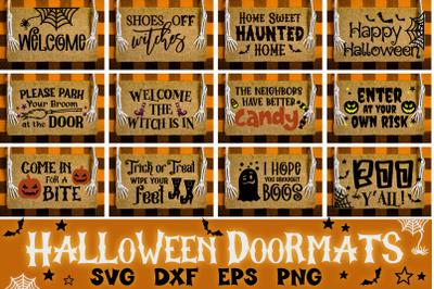 Halloween Doormat Bundle   Halloween Svg
