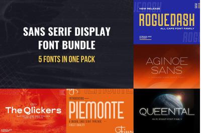 Sans Serif Display Font Bundle